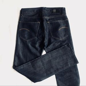 G Star RAW Slim Straight Dark Blue Jeans NWOT 30